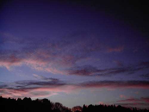 【画像】ポラデジ izone 550で澄んだ冬の朝焼けを撮影1