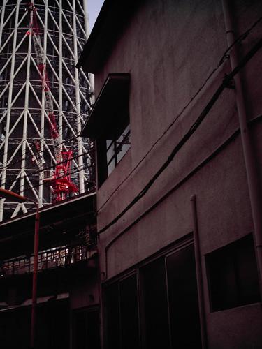 【画像】ポラデジ izone 550で撮影した業平橋駅と東京スカイツリー