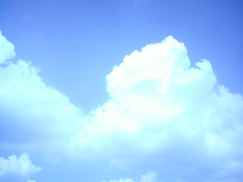 【画像】ポラデジ izone 550で撮影した青空と雲
